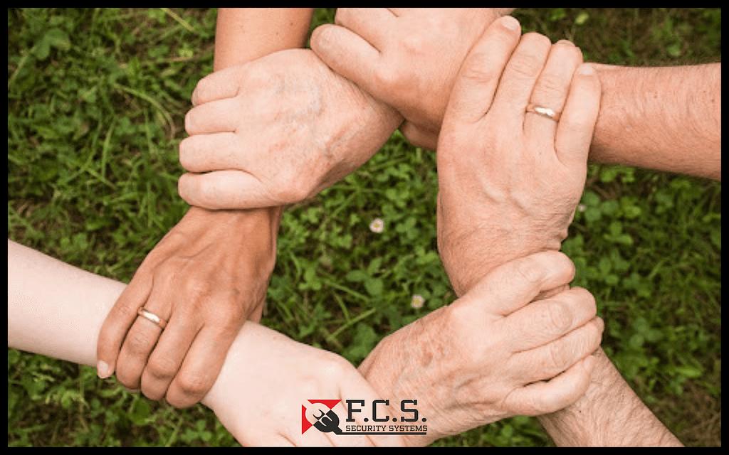 χέρια σε σχηματισμό